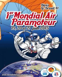 1° Esposizione Mondiale Paramotori BLOIS (FRANCIA) 19-21/06-2015